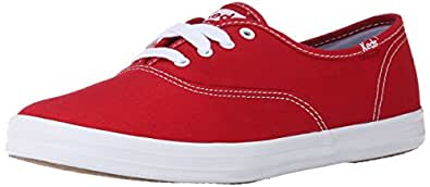 Keds Women's Champion Original Canvas Sneaker, Red,5 M US