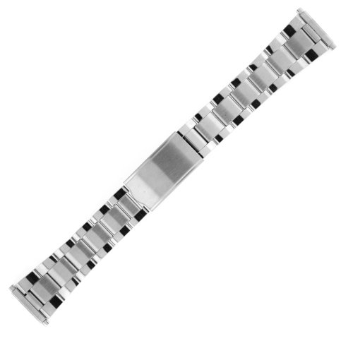 Watch Band Oyster Style Link Metal Stainless Steel Spring-End 18-22mm Tech Swiss