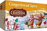 Celestial Seasonings Holiday Tea Gingerbread Spice Herb Tea, 20-count (Pack of 6)