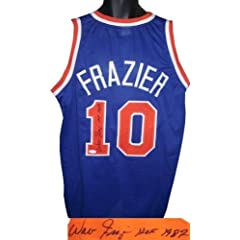 Walt Frazier Autographed Hand Signed New York Knicks Blue Prostyle Jersey HOF 1987-... by Hall of Fame Memorabilia