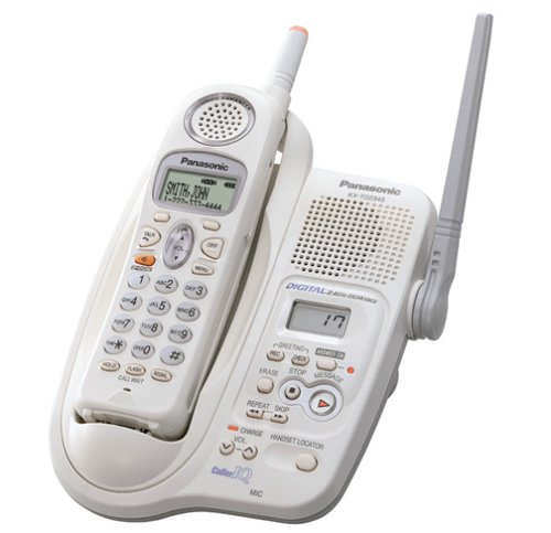 Panasonic KX-TG2343W 2.4 GHz DSS Cordless Phone (White) (Panasonic Phone Shoulder Rest compare prices)