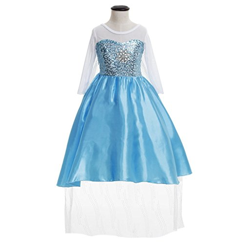 [CosplayDiy Girl's Snow Queen Elsa Dress Costume with Long Cape 2T] (Elsa 2t Costume)