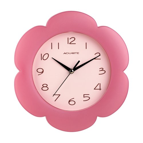 Chaney Instruments Pink Petals Wall Clock