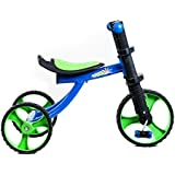 Tauki™ 12 Inch Kids Tricycle for Indoor/Outdoor Use, Lightweight 3 Wheels Toodler Trike, Blue/Orange, for 2-4 Years Old