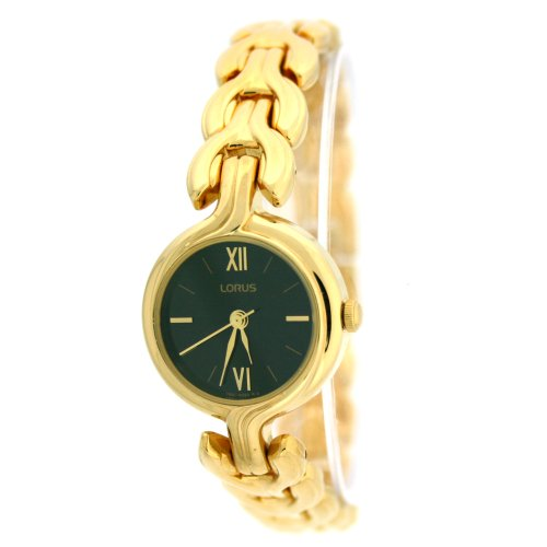 Lorus Gold Tone Ladies Watch Black Dial RZK582L9