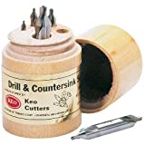KEO 10000 5 PIECE SET / #1-#5 60° RH HSS COMBINED DRILLS AND COUNTERSINKS