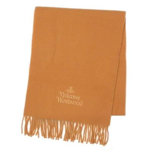 (ヴィヴィアンウエストウッド)Vivienne Westwood シンプルロゴ刺繍マフラー オレンジ [並行輸入品]