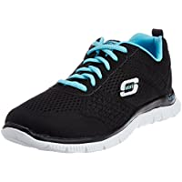 Skechers Sport Women s Obvious Choice Fashion Sneaker Black Light/Blue 9.5 B(M) US