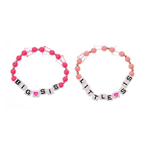 [Claire's Accessories Girls Kids Big Sis Little Sis Bracelets Set] (Big Sister Little Sister Costumes)