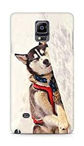 Amez designer printed 3d premium high quality back case cover for Samsung Galaxy Note 4 (Dog 6)