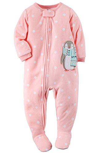 7987590481a0 Carter s Baby-girls  1 Pc Fleece Footed Blanket Sleeper Pajamas (18 ...