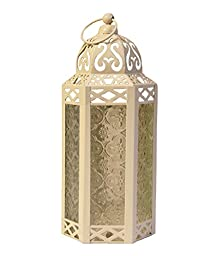 Cream / Off White Wedding Candle Lanterns ~ Hexagon Moroccan Style
