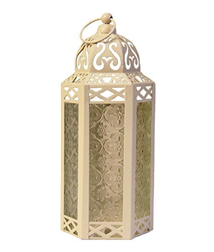 Cream / Off White Wedding Candle Lanterns ~ Hexagon Moroccan Style
