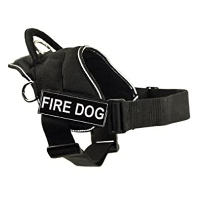 Dt Fun Works Harness Fire Dog Black With Reflective Trim Small - Fits Girth Size 56cm To 69cm by DEAN & TYLER