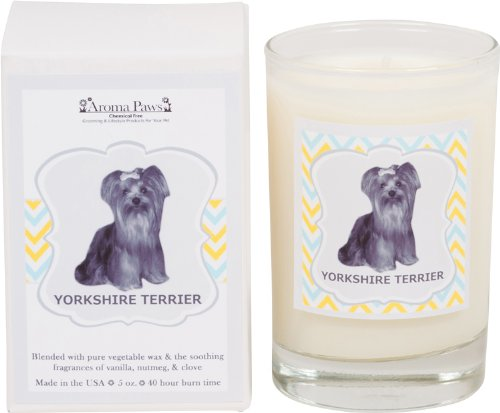 Aroma Paws Breed Candle Glass, 5-Ounce, Yorkshire Terrier