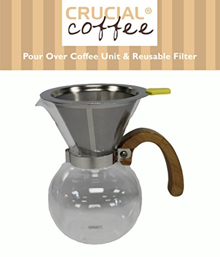 Drip Coffee Maker Amps : Personal Pour Over Drip Coffee Glass Coffee Maker Comes With Washable & Reusable Stainless Steel ...
