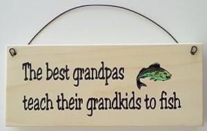 The Best Grandpas Teach Their Grandkids to Fish Gift for Grandpa