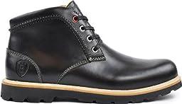 Boston Boot Co. Men\'s Commonwealth,Black Leather,US 9.5 M