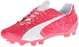PUMA Women\'s Evo Speed 3.3 PK Firm Ground Soccer Shoe,Camellia Rose/Fluorescent Pink/White,7 B US