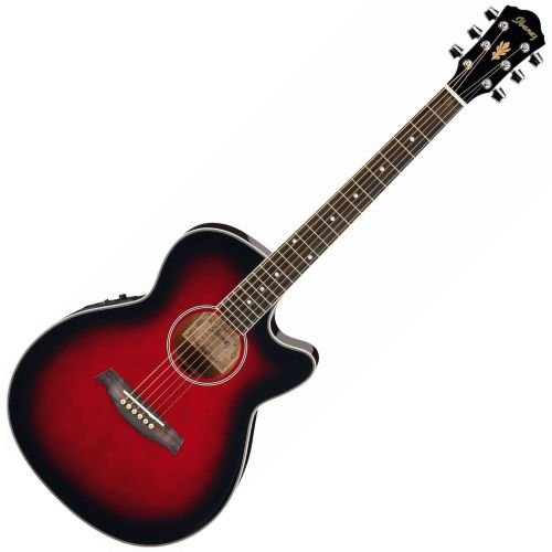 Ibanez AEG 8E translucent red sunburst