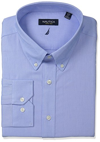 Nautica Men's Oxford Dress Shirt, Light Blue, 17x34/35 (Dress Shirts 17 34 35 compare prices)