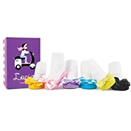 Trumpette Lucia Baby Girl Socks, 0-12 Months 6 Pair