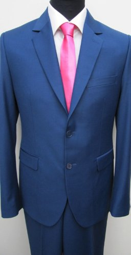 MUGA Modern Slim-fit Men's Suit 2-Piece, Blue, size 34R (EU 44)