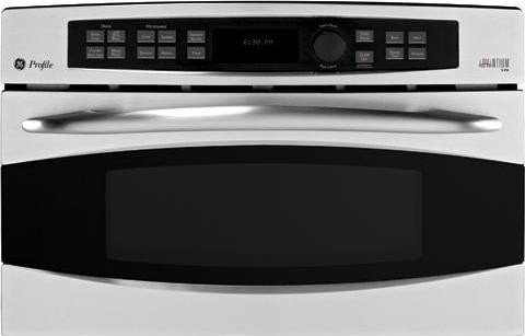 GE Profile : PSB1200NWW 30 Single Electric Advantium Wall Oven, Convection - White