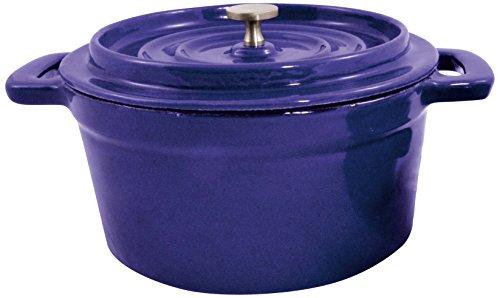 Paderno World Cuisine Mini Blue Enamel Dutch Oven, 29-Ounce (Small Enamel Dutch Oven compare prices)