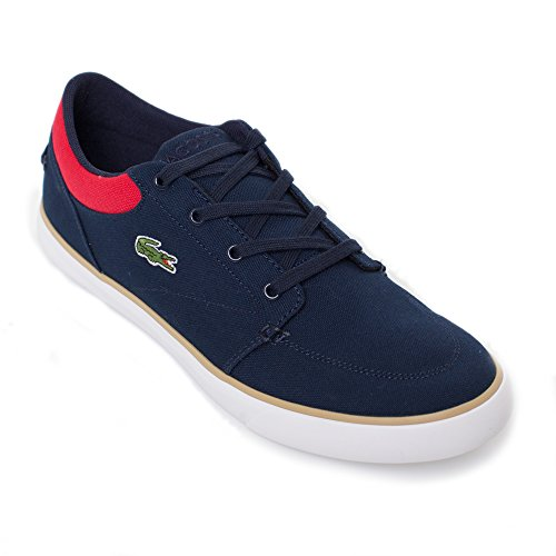 Lacoste Men's Bayliss 116 2 Fashion Sneaker, Navy/Red, 8 M US