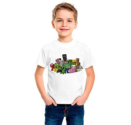 Camiseta-dibujo-Grupo-minecraft--Tamaos-de-nio-y-tejido-algodn-100-Estampado-realizado-con-tintas-ecosolventes-y-se-puede-planchar-el-diseo-Talla-34-BLANCO