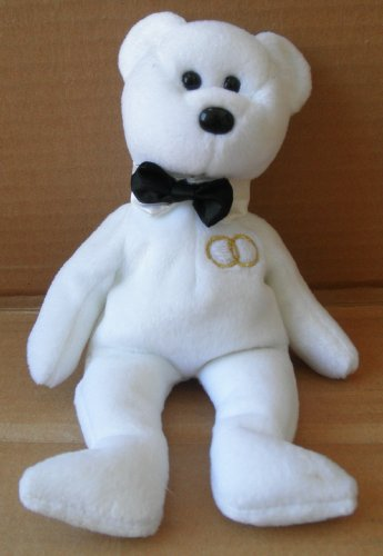 TY Beanie Babies Mr. the Wedding Groom Bear Stuffed Animal Plush Toy - 8 inches tall - 1