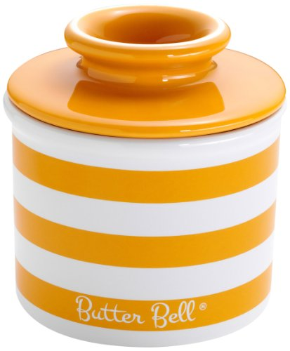 The Original Butter Bell Crock by L. Tremain, Tangerine Yellow