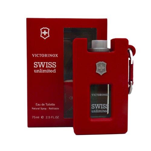 Victorinox Swiss Unlimited Eau de Toilette Spray, 2.5 Oz