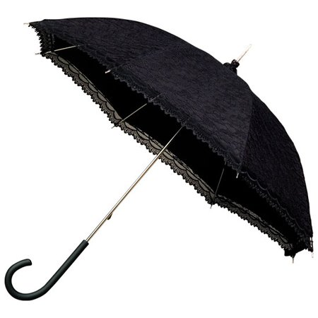 Victorian black lace umbrella
