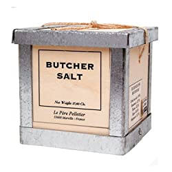 Butcher Salt Pere Pelletier Salt from France in Wood Box 17.6 oz