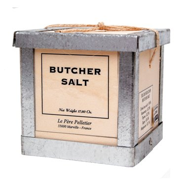 Butcher Salt Pere Pelletier Salt from France in Wood Box 17.6 oz (Butcher Salt Box compare prices)