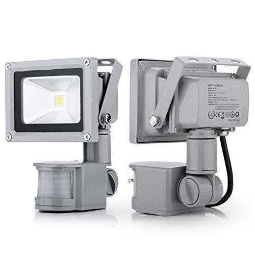 Generic 2Pcs 10W Induction Lamp Cool White New Led Pir Motion Sensor Flood Light Ip65 110V