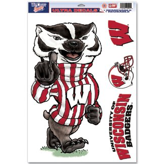 NCAA University of Wisconsin 42988081 Multi Use Decal, 11
