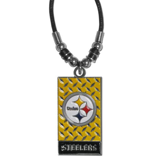 NFL Pittsburgh Steelers Diamond Plate Rope Necklace, 20-Inch