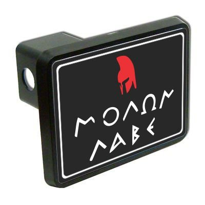 "Molon Labe come and take them 2"" Tow Trailer Hitch Cover Plug Truck Pickup RV military army soldier"