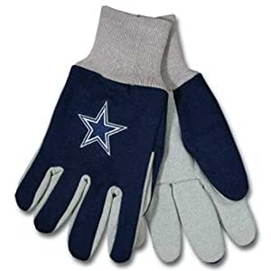 Buy McArthur Sports Dallas Cowboys NFL Two Tone Gloves by McArthur