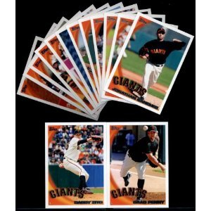 2010 Topps San Francisco Giants Complete Team Set (Series 1, Series 2, & Update Series) - Total of 31 Cards! Includes Buster Posey Rookie Card, (2) Tim Lincecum, Brian Wilson, Madison Bumgarner Rookie, Team Card, Series MVP Edgar Renteria, and more!!