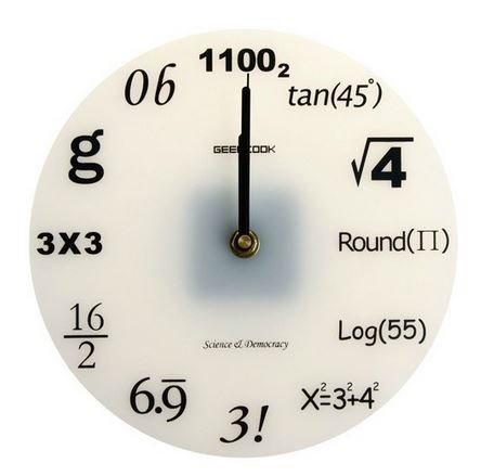 面白 壁掛け時計 数学 雑貨 知的 インテリア