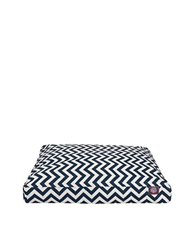 Chevron Small Rectangle Pet Bed, Navy
