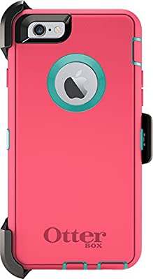 iPhone 6 Plus Case - OtterBox Defender Series, Frustration-Free Packaging - (BLAZE PINK/AQUA)(5.5 inch) from Apple Defender