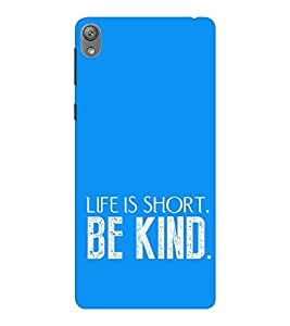 EPICCASE Be kind Mobile Back Case Cover For Sony E5 (Designer Case)