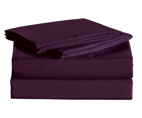 1600 Thread Count Sheet Set Egyptian Quality Wrinkle Resistance Purple Twin front-912612