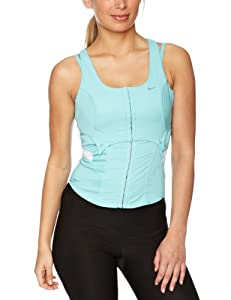 Nike Womens Dance Corset Top - Blue, 14/16 (Old Version)