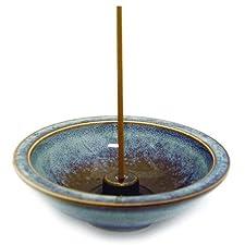 Shoyeido es Mountain Mist redondos de cerámica soporte para incienso